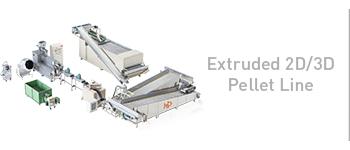 Extruded 2D/3D Pellet Line